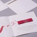 kartka ze wstążką haftowaną